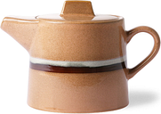 HKliving - Ceramic 70's tea pot: stream - ceramic | peach - Peach