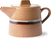 HKliving - Peach Ceramic Tea Pot Glacier - ceramic | peach | White - Peach