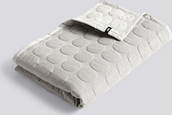 HAY - Light Grey Large Mega Dot Quilted Throw