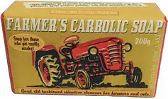 Sting In The Tail - Farmer's Tractor Exfoliating Carbolic Soap - Red/Yellow/Brown