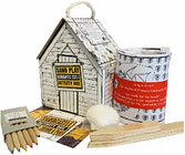 Sting In The Tail - Knights and Princesses Beach Hut Sandcastle Activity Kit - Red/Black/Yellow