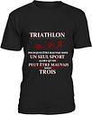 Teezily Tee-Shirt Triathlon Humour - T-Shirt Homme
