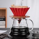 Taza de café de mano Filtro de Origami Filtro de café Su V60 Taza de goteo Cono Filtro de cerámica Taza de pastel