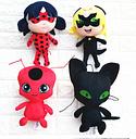 Ladybug Girl Miraculous Ladybug Red Ladybug Ladybug Black Cat Plush Doll Toy