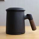 Taza de té de cerámica con filtro para el hogar, taza de separación con tapa, taza de té de oficina, taza japonesa, taza de agua personalizada