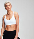 Sujetador deportivo con espalda de rejilla Power para mujer de MP - Blanco - S