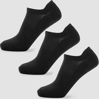 MP Men's Essentials Ankle Socks - Black (3 Pack) - UK 6-8