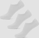 MP Women's Essentials Women's Ankle Socks - White (3 Pack) - UK 3-6