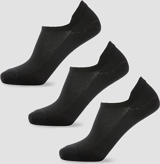 MP Women's Essentials Ankle Socks - Black (3 Pack) - UK 3-6