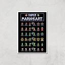 Nintendo Retro Racer Art Print - A4 - Print Only