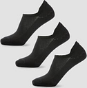 MP Women's Essentials Ankle Socks - Black (3 Pack) - UK 3-6