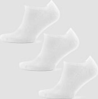 MP Essentials Men's Ankle Socks - White (3 Pack) - UK 6-8