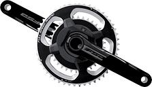 FSA Powerbox Powermeter Alloy Road ABS Chainset - 53 x 39 - 175mm