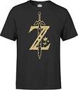 T-Shirt Homme Master Sword Zelda Nintendo - Noir - S