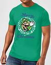 Camiseta Navidad Nintendo Super Mario Luigi  Corona Merry Christmas  - Unisex - Verde - XXL - Verde