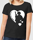 Camiseta Star Wars Leia  I'd Rather Kiss A Wookie  - Mujer - Negro - L