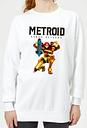 Sweat Femme Super Metroid (Nintendo) Samus Returns - Blanc - M - Blanc
