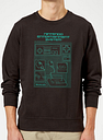 Sudadera Nintendo NES Mando Cianotipo - Hombre - Negro - M - Negro