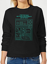 Sudadera Nintendo NES Mando - Mujer - Negro - S - Negro