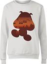 Sweat Femme Super Mario Silhouette Goomba - Nintendo - Blanc - XS - Blanc