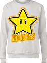 Sudadera Nintendo Super Mario Estrella - Mujer - Blanco - XL - Blanco