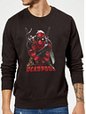 Sweat Homme Deadpool (Marvel) Ready For Action - Noir - S - Noir