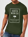 Camiseta Native Shore Santa Monica Surf City - Hombre - Verde oscuro - S - Forest Green