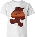 T-Shirt Enfant Silhouette Goomba - Super Mario Nintendo - Blanc - 3-4 ans - Blanc