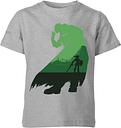 T-Shirt Enfant Silhouette Ganondorf - The Legend Of Zelda Nintendo - Gris - 11-12 ans