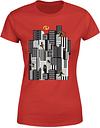 Camiseta Los Increíbles 2 Skyline - Mujer - Rojo - M - Rojo