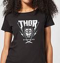 T-Shirt Femme Marvel - Thor Ragnarok - Triangle Asgardien - Noir - S - Noir