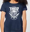 Camiseta Marvel Thor Ragnarok Martillo de Thor - Mujer - Azul marino - S - azul marino