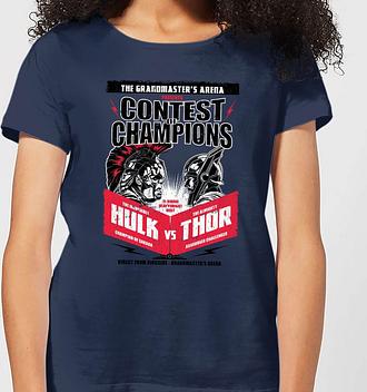 Camiseta Marvel Thor Ragnarok Champions Póster - Mujer - Azul marino - L - azul marino