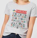 T-Shirt de Noël Femme Nintendo SNES Motifs Festifs - Gris - S - Gris