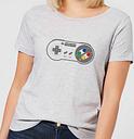Nintendo Super Nintendo SNES Controller Pad Women's T-Shirt - Grey - S - Gris