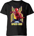 Spider Man Far From Home Friendly Neighborhood Spider-Man Kids' T-Shirt - Black - 9-10 Years - Black