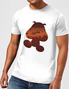T-Shirt Homme Silhouette Goomba Super Mario Nintendo - Gris Clair - M - Light Grey