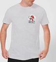 T-Shirt Homme Couronne Blanche - Super Mario Poche Nintendo - Gris - L - Gris