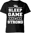 My Little Rascal My Sleep Game is Strong Kids' T-Shirt - Black - 9-10 Anni - Nero