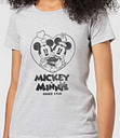 Camiseta Disney Mickey Mouse Mickey & Minnie Since 1928 - Mujer - Gris - XXL - Gris