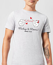 Camiseta Disney Mickey Mouse Love Mickey & Minnie - Hombre - Gris - M - Negro