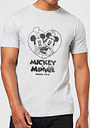 Camiseta Disney Mickey Mouse Mickey & Minnie Since 1928 - Hombre - Gris - S - Negro