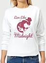 Sudadera Disney Cenicienta Live Like There Is No Midnight - Mujer - Blando - XS - Blanco