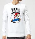 Sweat Homme Super Mario Cardio - Nintendo - Blanc - XL - Blanc
