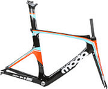 MODA INTERVAL CARBON TRI/TIME TRIAL FRAMESET - ORANGE/BLACK/WHITE - 54cm - Orange/Black/White