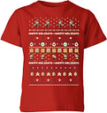 Camiseta Navidad Nintendo Super Mario Happy Holidays - Niño - Rojo - 7-8 años - Rojo