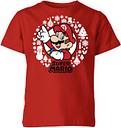 T-Shirt de Noël Enfant Couronne de Noël - Super Mario Nintendo - Rouge - 9-10 ans - Rouge
