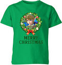 T-Shirt Enfant Joyeux Noël Couronne de Noël - The Legend Of Zelda Nintendo - Vert - 7-8 ans - Kelly Green