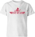 T-Shirt Enfant Here We Go Mario - Mario Kart Nintendo - Blanc - 11-12 ans - Blanc