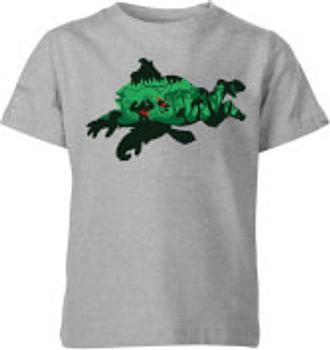 Camiseta Nintendo Donkey Kong Silueta - Niño- Gris - 9-10 años - Gris